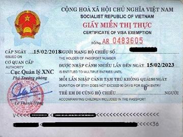 Cong dan cac nuoc duoc Viet Nam mien visa thi thuc